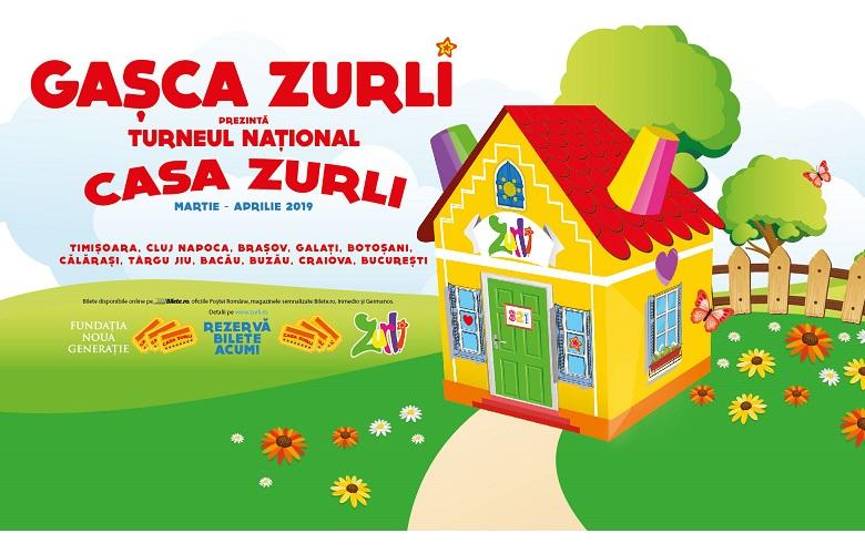 Gașca Zurli îi invită pe toți copiii din România în Casa Zurli, cea mai veselă căsuță din lume